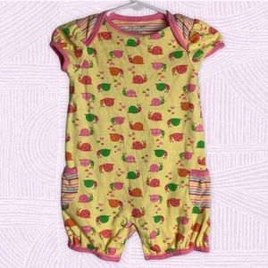 Jumping Beans Baby Girl's Snail Print Snap Romper